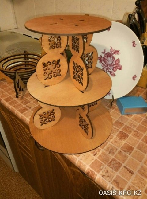 Laser Cut Cake Stand Template Free CDR Vectors Art