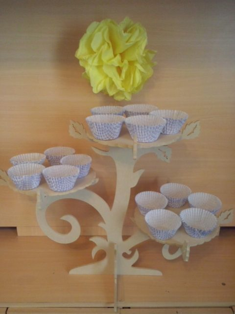 Laser Cut Cupcake Stand Like Tree Branches Free CDR Vectors Art