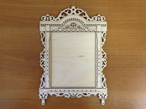 Laser Cut Photo Frame With Platband Free CDR Vectors Art