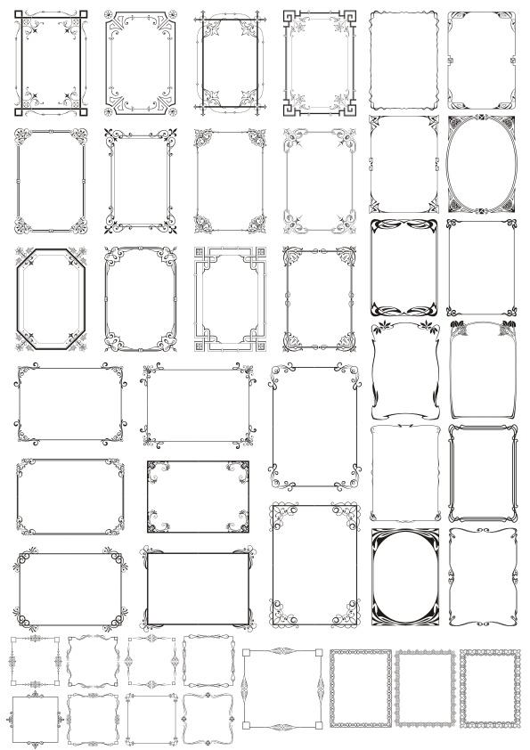 Decorative Frames Free CDR Vectors Art