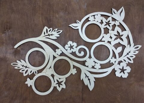 Laser Cut Decorative Picture Floral Frame Free CDR Vectors Art