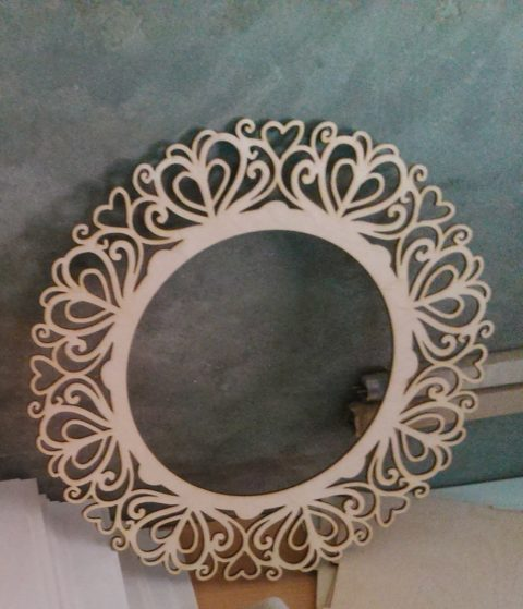 Laser Cut Decorative Round Frame Template Free CDR Vectors Art