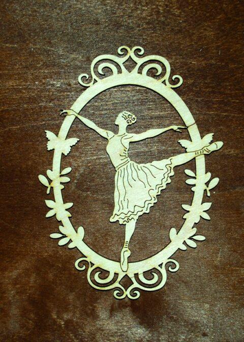 Laser Cut Framed Ballerina Free CDR Vectors Art