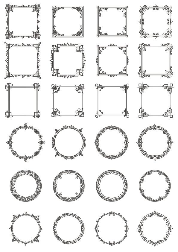 Vectors Decorative Elements Frames Free CDR Vectors Art