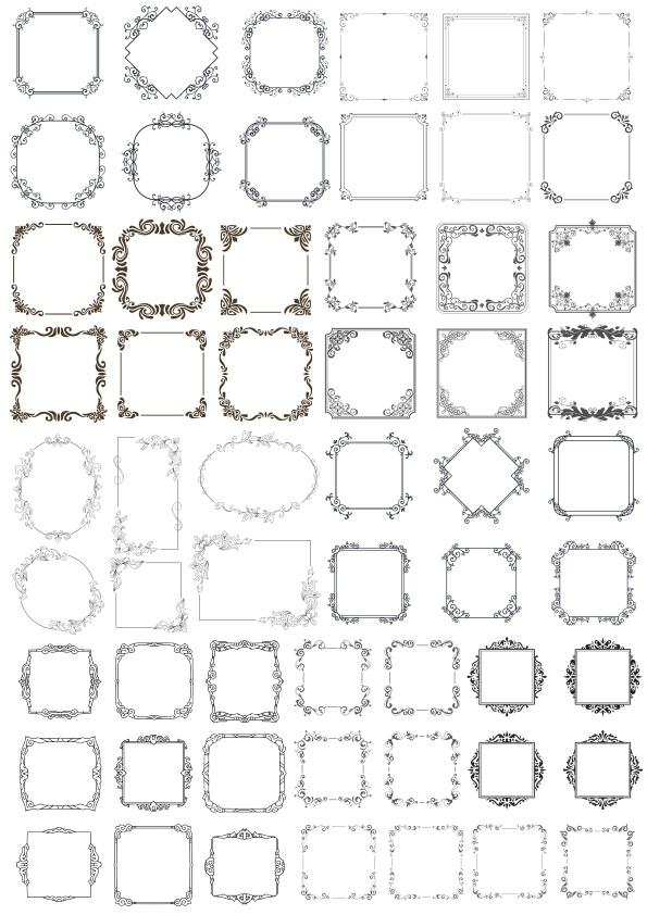 Vectors Decorative Frame Free CDR Vectors Art
