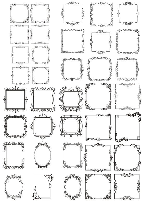 Vectors Decorative Frames Free CDR Vectors Art