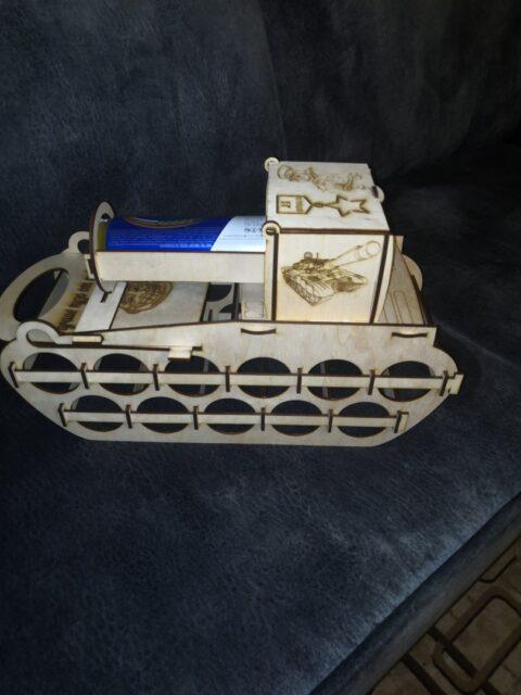 Laser Cut 12 Cane Holder Tank Shaped Cane Storage Rack Free CDR Vectors Art