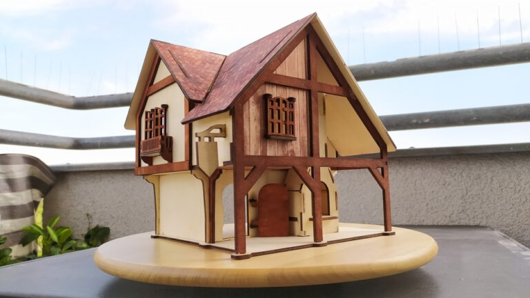 Laser Cut Forge House Plywood 4mm Free CDR Vectors Art