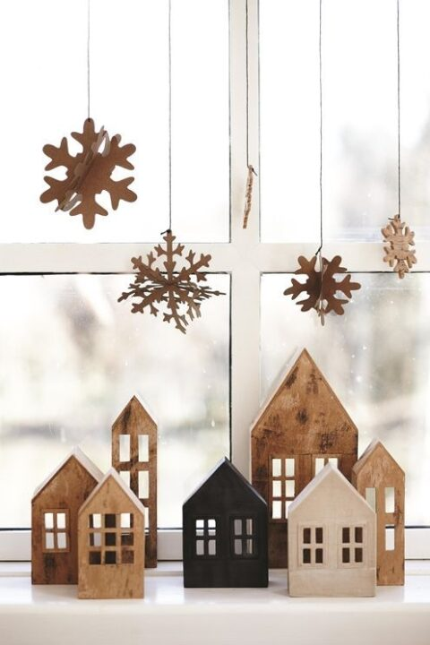 Laser Cut Miniature House Lantern Free CDR Vectors Art