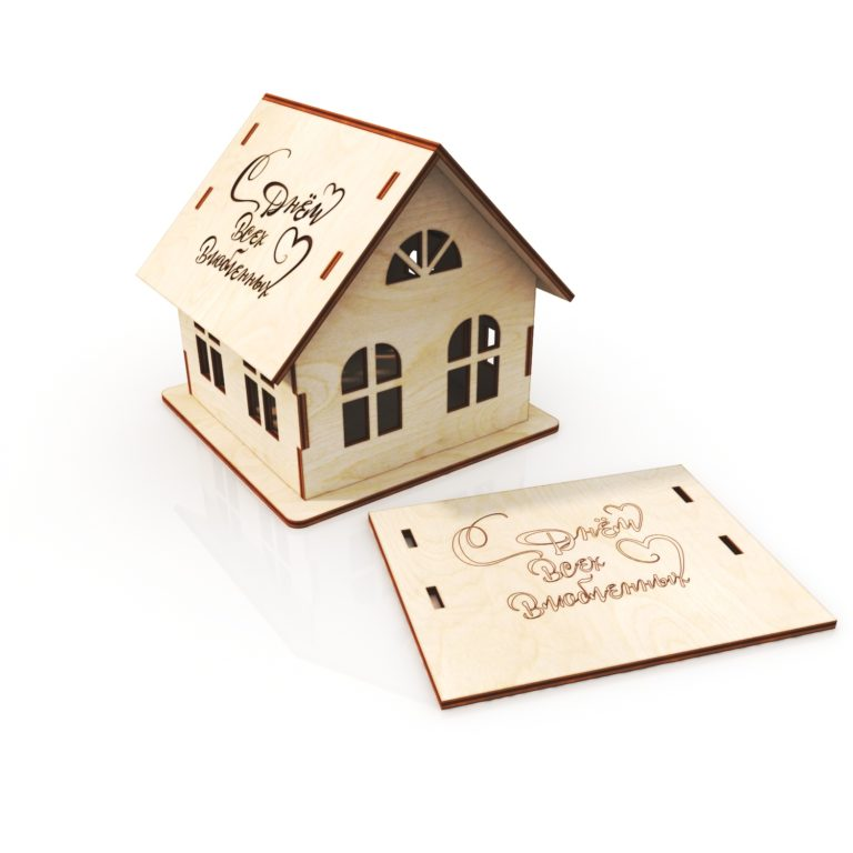 Laser Cut Small House Template Free CDR Vectors Art