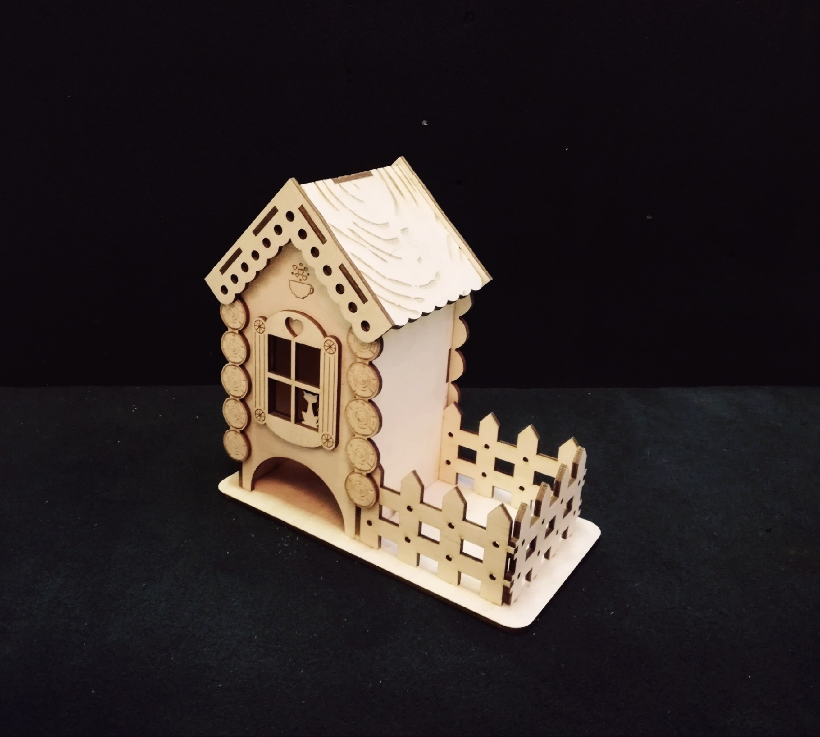 Tea House Wooden Free CDR Vectors Art