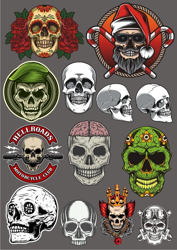 Horror Skull Collection Free CDR Vectors Art