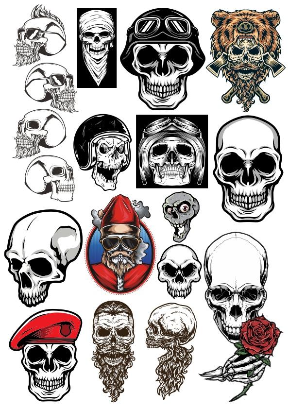 Skull Collection Set Free CDR Vectors Art