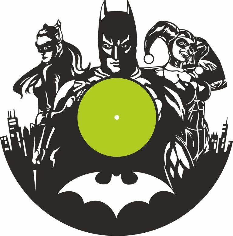 Laser Cut Batman Clock Free CDR Vectors Art