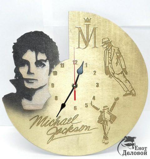 Laser Cut Engraved Michael Jackson Wall Clock Free CDR Vectors Art