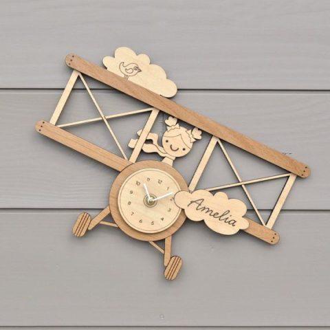 Laser Cut Wall Clock Template For Kids Room Free CDR Vectors Art