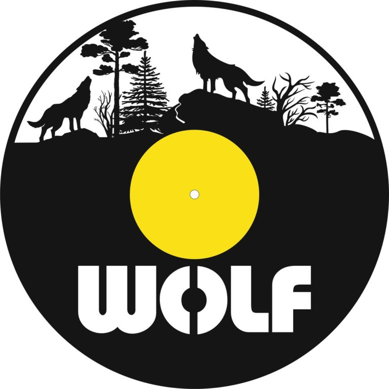 Laser Cut Wolf Vinyl Record Clock Template Free CDR Vectors Art