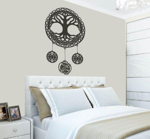 Celtic Tree Of Life Wall Art Room Decor Free CDR Vectors Art