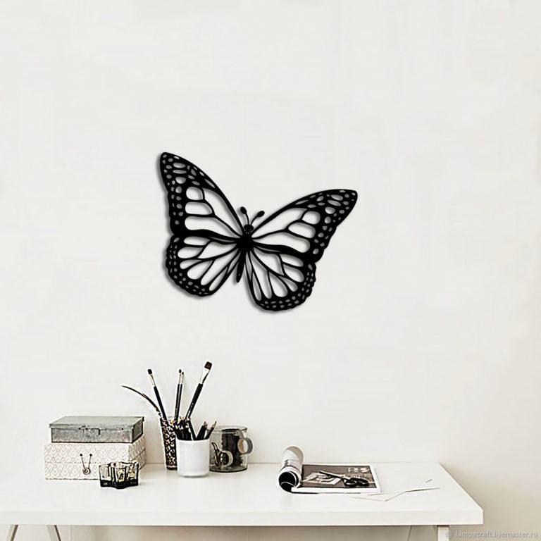 Laser Cut Butterfly Wall Art Decoration Free CDR Vectors Art