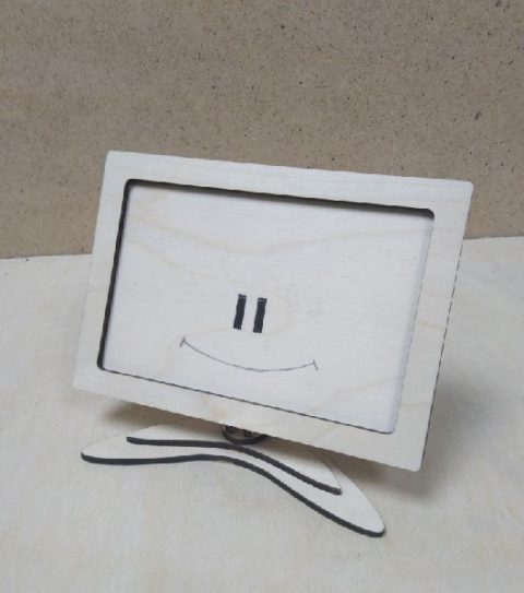 Laser Cut Photo Frame With Stand Free CDR Vectors Art