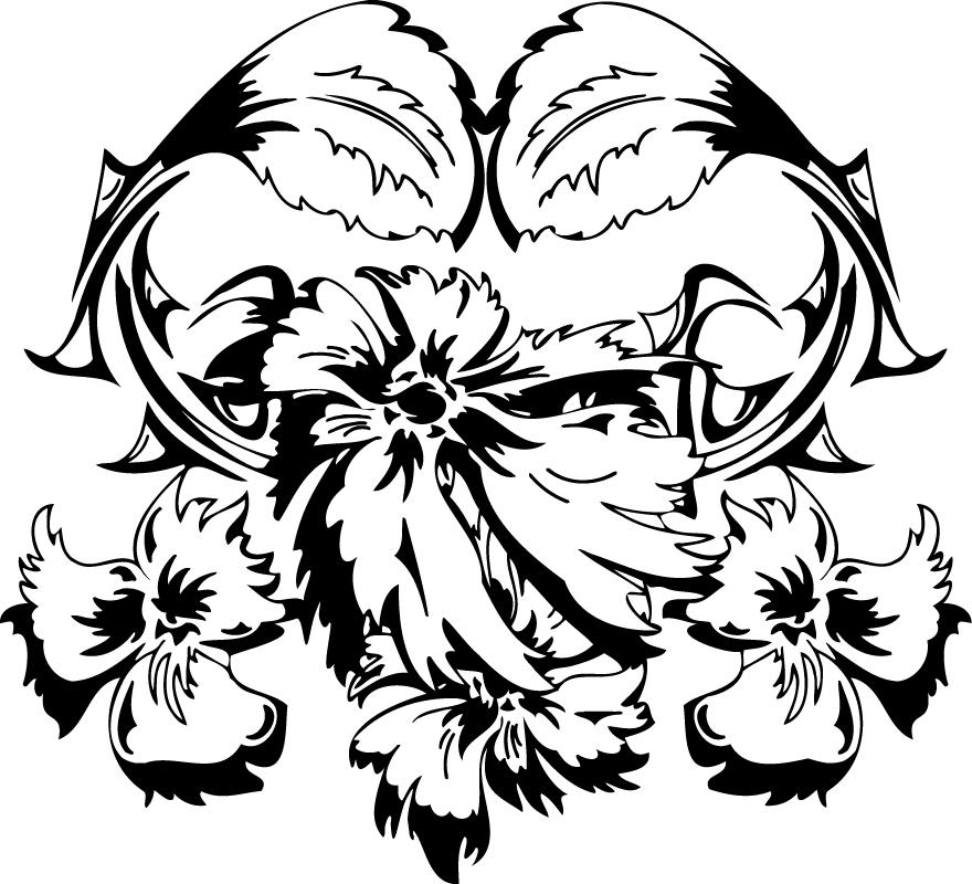 Floral Ornament Vector Free AI File