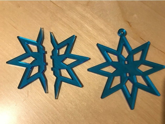 Two Part Snowflake Ornament Free AI File