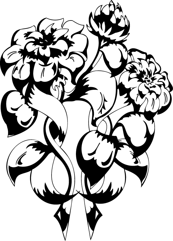 Vector Floral Ornamental Design Free AI File