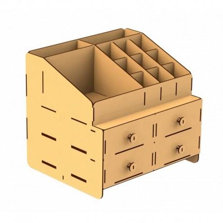 Laser Cut Organizer Box Free CDR Vectors Art