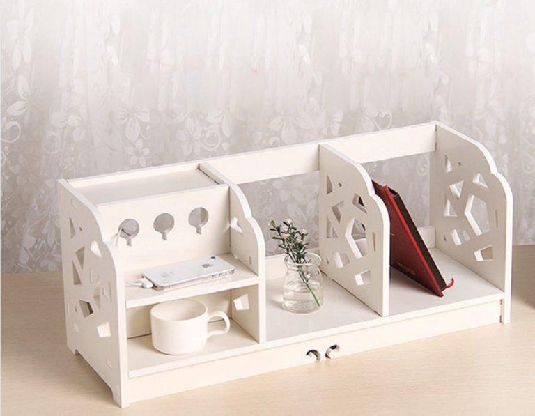 Laser Cut Shelf Storage Organizer Bookshelf Free CDR Vectors Art