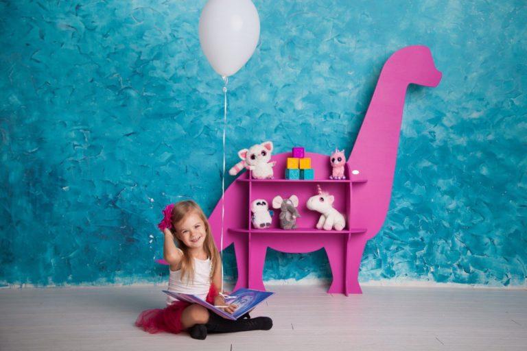 Laser Cut Kids Dinosaur Shelf Template Free CDR Vectors Art