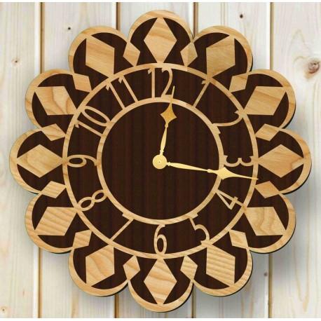 Laser Cut Wall Clock Free CDR Vectors Art