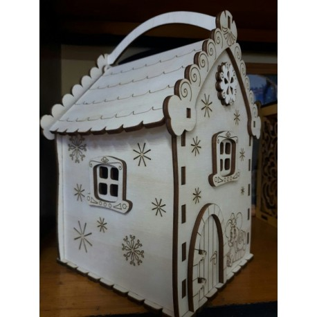 Laser Cut Candy Box Mouse House Free CDR Vectors Art
