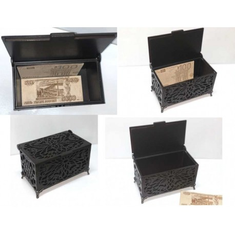 Laser Cut Carved Wooden Box Template Free CDR Vectors Art