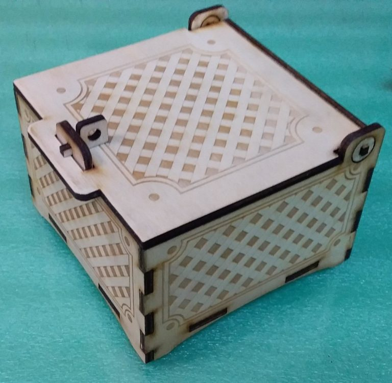 Laser Cut Engraved Box With Lid And Lock Free CDR Vectors Art