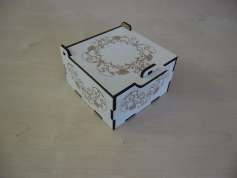 Laser Cut Engraved Small Box With Lid And Lock Free CDR Vectors Art