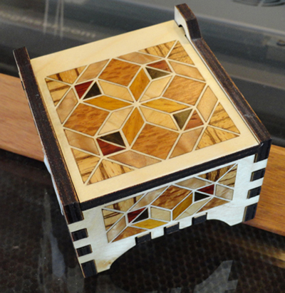 Laser Cut Mini Box Template Free CDR Vectors Art