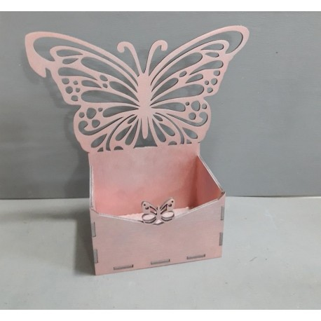 Laser Cut Box With Butterfly Free CDR Vectors Art