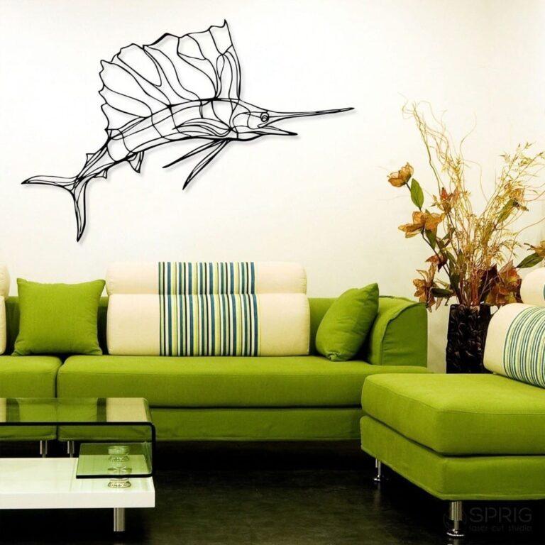Laser Cut Sailfish Wall Decor Living Room Ideas Free CDR Vectors Art