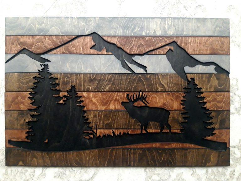 Laser Cut Wooden Wall Decoration Free CDR Vectors Art