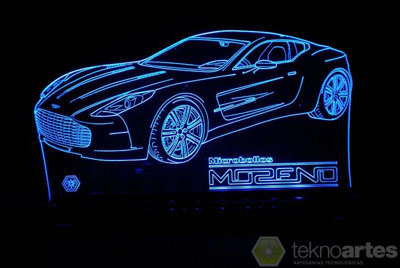 Laser Cut Aston Martin one-77 Sports Car Acrylic 3d Lamp Free AI File