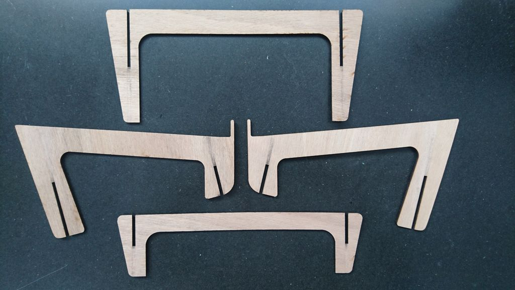Laser Cut Wooden Laptop Stand Free AI File