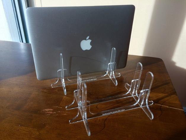 Mac Book Air Pro Laptop Stand Laser Cut Free AI File