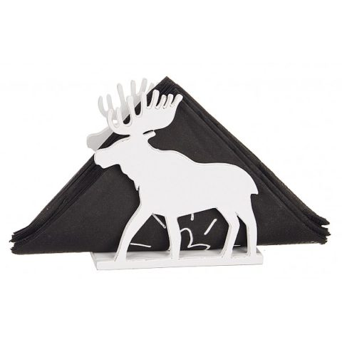 Laser Cut Elk Napkin Holder Template Free CDR Vectors Art