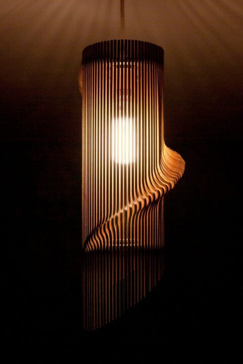 Laser Cut Decor Pendant Lamp 4mm Free CDR Vectors Art
