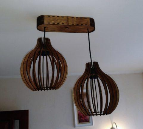 Laser Cut Decorative Ceiling Lamp Template Free CDR Vectors Art