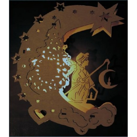 Laser Cut Night Light Moon Lamp Template Free CDR Vectors Art