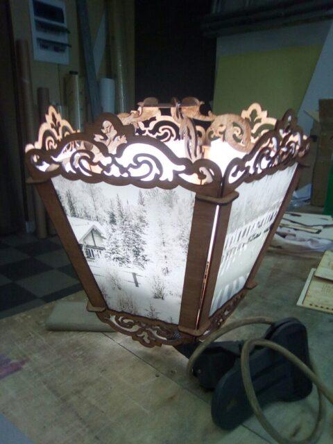 Laser Cut Wooden Decorative Lamp Free CDR Vectors Art