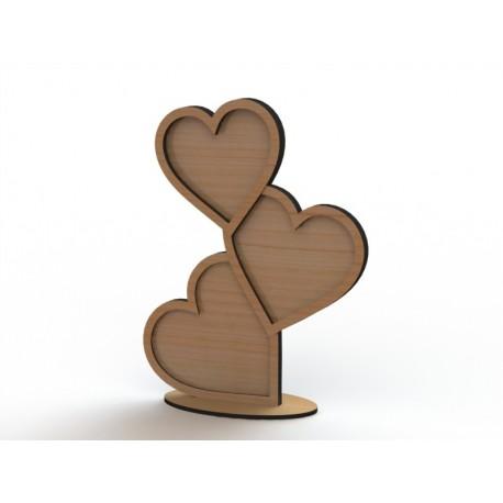 Laser Cut Heart Shape Frame Template Free CDR Vectors Art