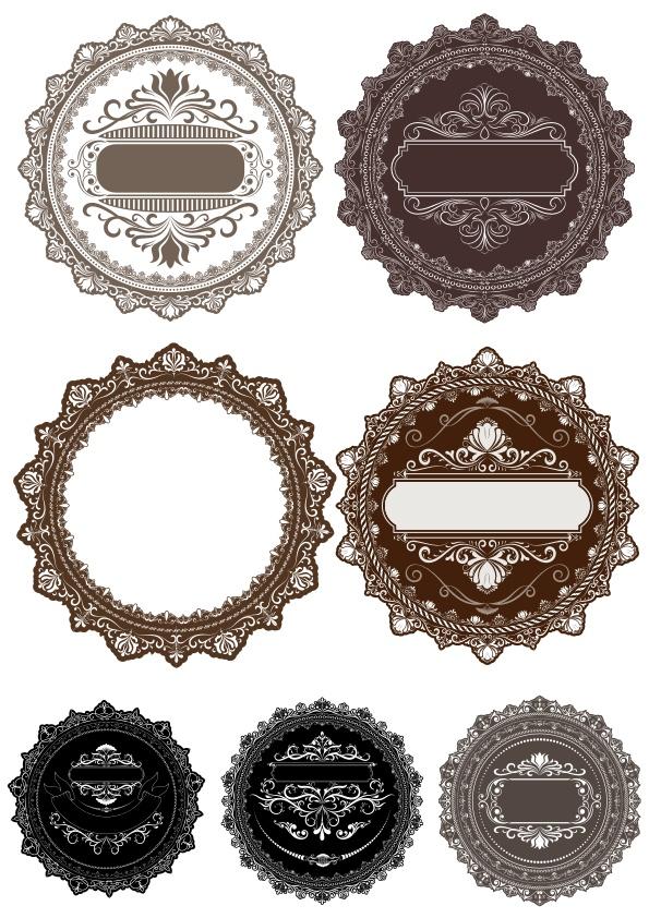 Vectors Round Decor Frames Free CDR Vectors Art