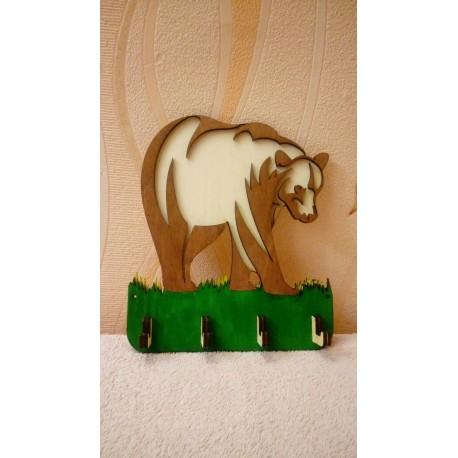 Laser Cut Hanger Housekeeper Bear Free CDR Vectors Art